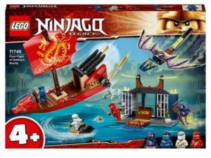 LEGO 71749 NINJAGO Legacy Final Flight of Destiny's Bounty Ship & Dragon Set