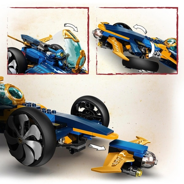 LEGO 71752 NINJAGO Ninja Sub Speeder Car & Submarine Toy