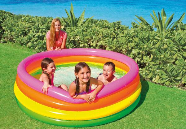 Intex 66″ X 18″ Sunset glow 4 Ring Pool