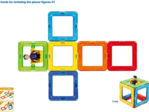 Magformers 707004 Wow Set 16 Magnetic Construction Set