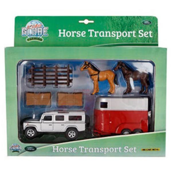 Kids Globe Land Rover & Horse Trailer