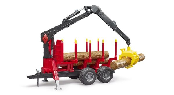 Bruder Forestry trailer with loading crane and grab