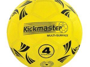 Kickmaster Black and Yellow Backpack Training Football Set