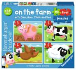 Ravensburger On the Farm, My First Jigsaw Puzzles (2, 3, 4 & 5pc) – 07302