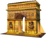 Ravensburger Arc De Triomphe Night Edition 216 piece 3D Jigsaw Puzzle with LED lighting for Kids – 12522