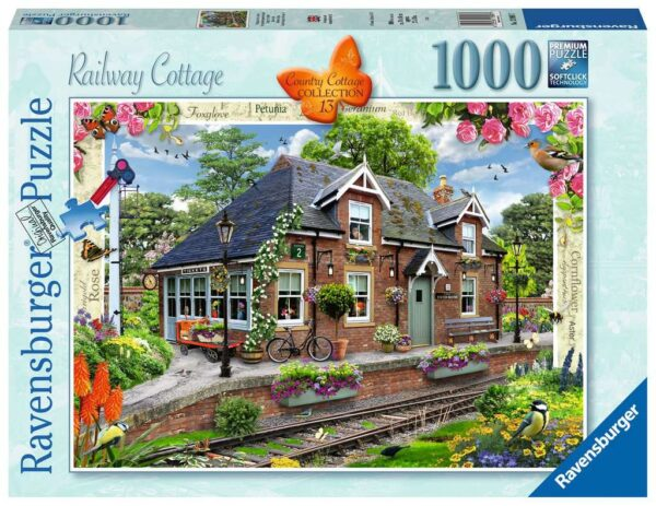 Ravensburger Country Cottage No.13 – Railway Cottage 1000 piece Jigsaw Puzzle for Adults & for Kids – 13989