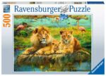 Ravensburger Lions of the Savannah 500 piece Jigsaw Puzzle for Adults & for Kids – 16584