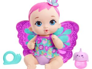 My Garden Baby Feed And Change Baby Butterfly Doll Magenta