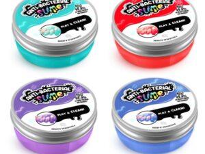 Anti-Bacterial Slime 4 Pack Assortment