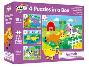 4 Puzzles In A Box – Animals