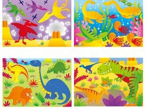 4 Puzzles In A Box – Dinosaurs