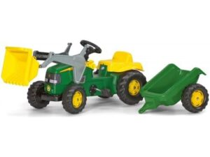 Rolly Toys Rolly Kid John Deere Tractor with Frontloader and Trailer