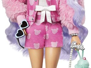 Barbie Extra Doll #6 in Teddy Bear Jacket & Shorts with Pet