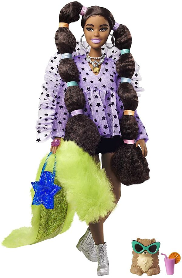 Barbie® Extra Doll #7 in Top & Furry Shrug with Pet Pomeranian