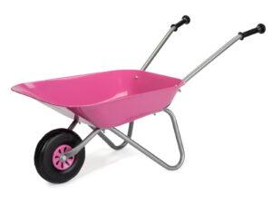 Rolly Metal Wheelbarrow – Pink