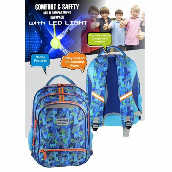 Freelander Comfort & Safety School Bag – Blue
