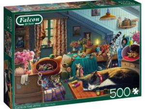 Falcon/Jumbo Cats In The Attic 500pc Puzzle