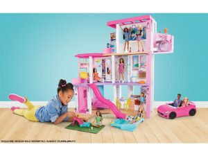 New Barbie DreamHouse Dollhouse with Pool, Slide, Elevator, Lights & Sounds