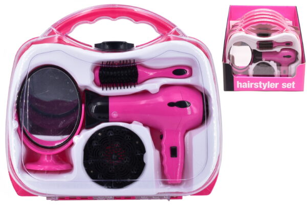 B/O Hairdryer Set In Carry Case / Display Box