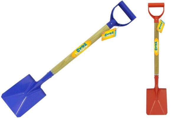 78cm/31″ Metal Spade – Wood Shaft – Plastic Handle
