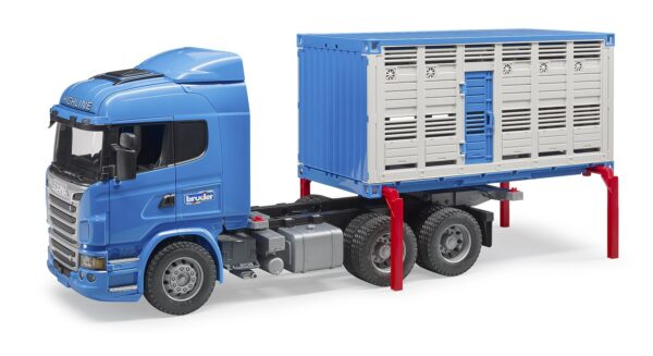 Bruder Scania R-series animal transport truck with 1 cattle