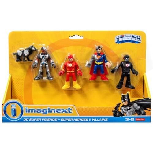 Fisher Price DC Super Friends Imaginext Heroes & Villains 3-Inch Mini Figure 5-Pack