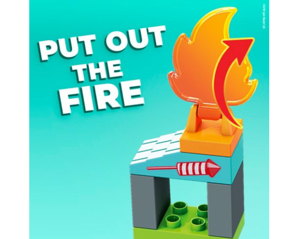 Mega Bloks PAW Patrol The Movie – Marshall's City Fire Rescue Set