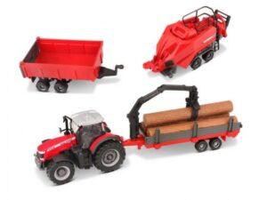 10CM Massey Ferguson 8740S Farm Tractor With 3 Trailers – B18-31668