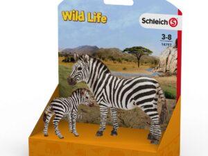 Schleich 14797 Zebra female and zebra foal