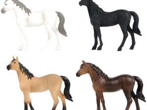 Kids Globe Horse Pony Set of 4 Scale 1:32
