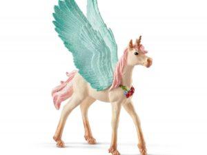 Schleich 70575 Decorated unicorn Pegasus, foal