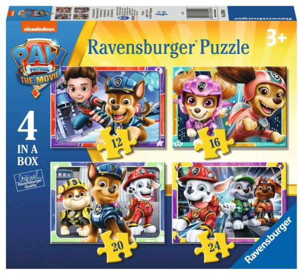 Ravensburger Paw Patrol The Movie 4 in a Box – 03099
