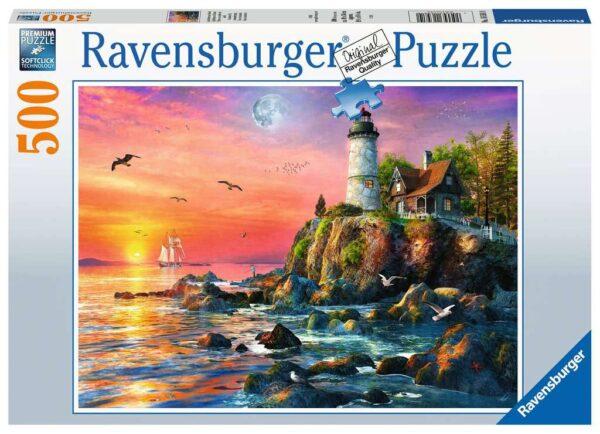Ravensburger Lighthouse at Sunset 500pc – 16581
