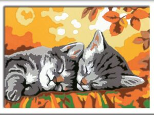 Ravensburger CreArt Autumn Kitties Paint By Numbers For Children – Arts and Crafts For Kids Age 9 Years and Up – 28932