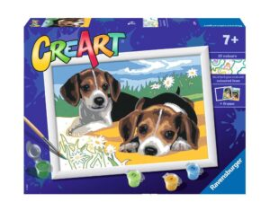 Ravensburger CreArt Jack Russell Puppy Paint By Numbers For Children – Painting Arts and Crafts For Kids Age 7 Years and Up – 28939