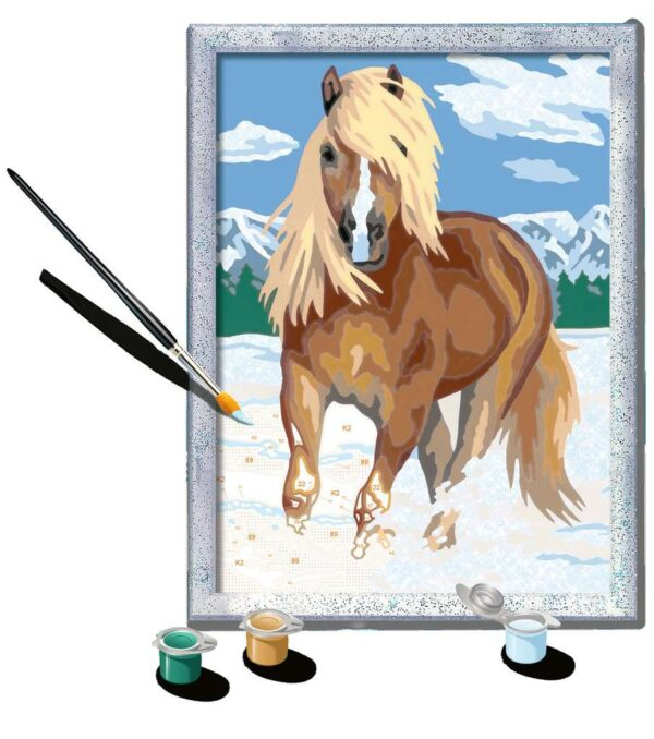 Ravensburger CreArt The Royal Horse Paint By Numbers For Children – Arts and Crafts For Kids Age 9 Years and Up – 28940