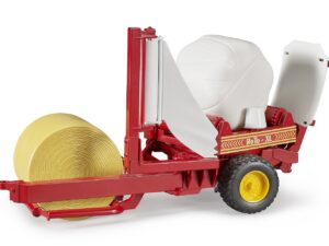 Bruder 02122 Bale wrapper with round bales