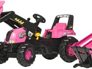 Rolly Toys 81310 Rolly Girls Pink Junior Pedal Tractor and Trailer