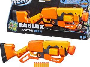 Hasbro F2486 Nerf Roblox Adopt Me! BEES! Lever Action Blaster 8 Nerf Elite Darts